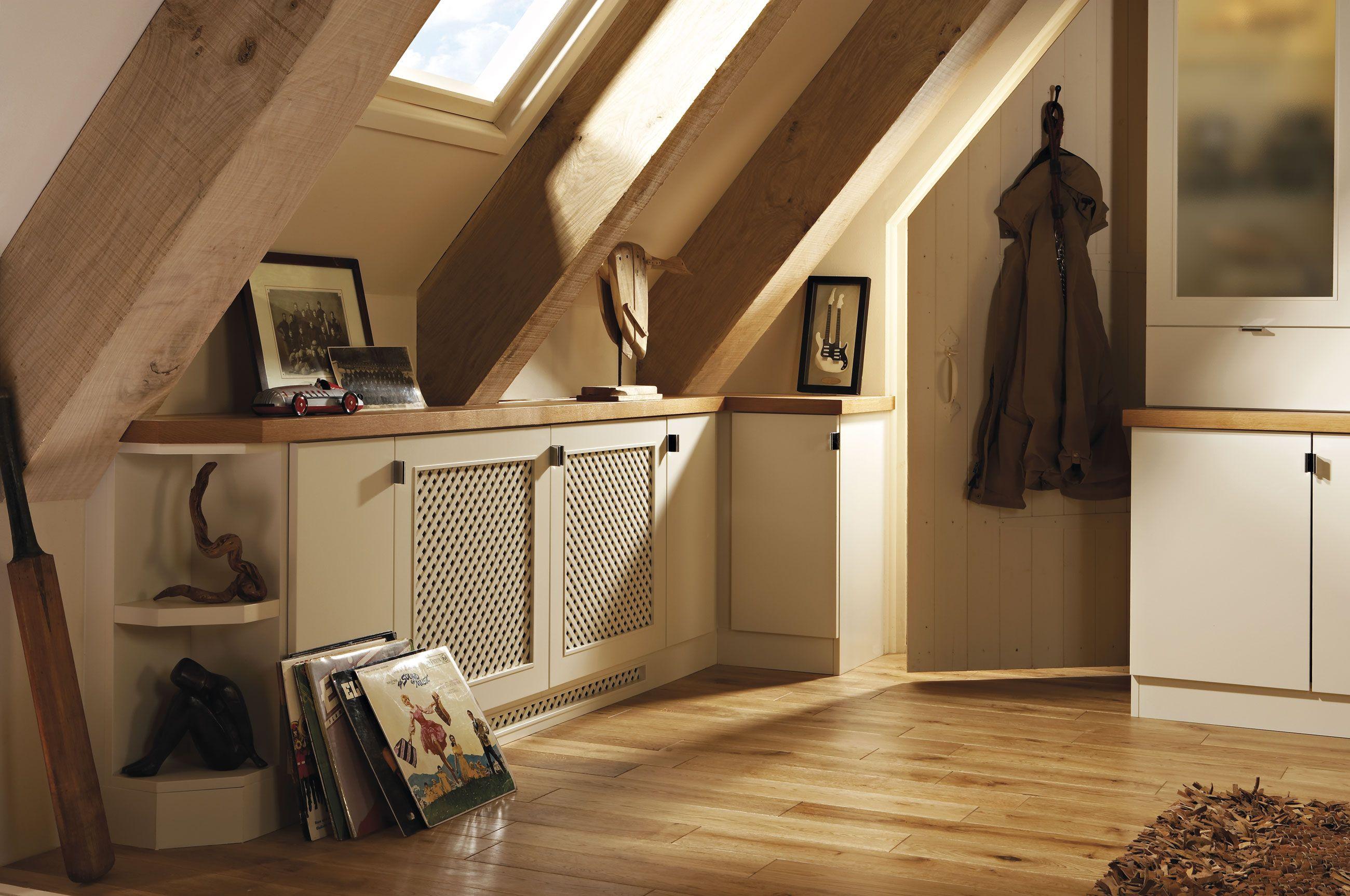 Loft study furniture with contrasting oak veneer desktops | Home ...