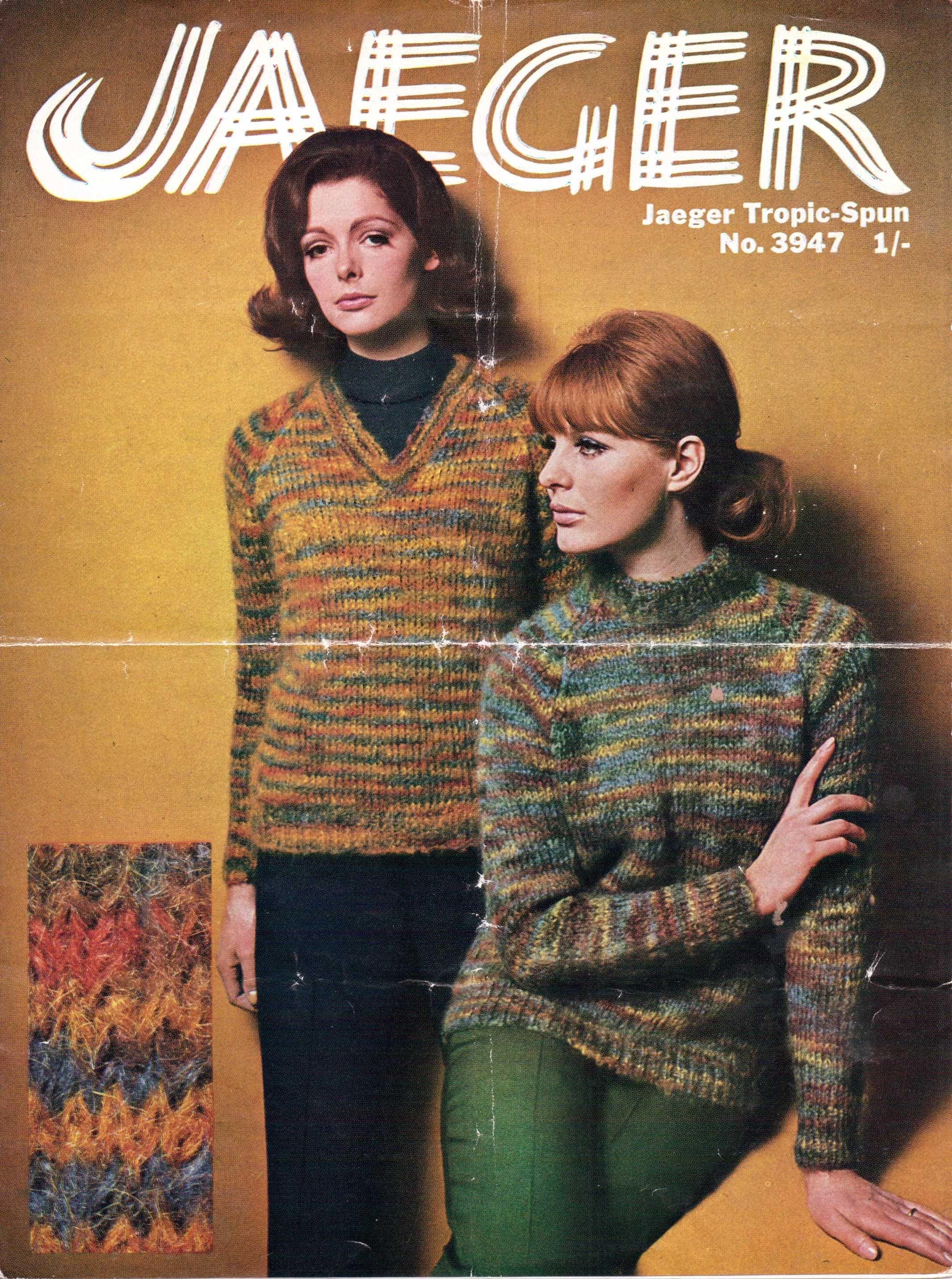Jaeger 60s beatnik sweater free knitting pattern   knits   Pinterest ...
