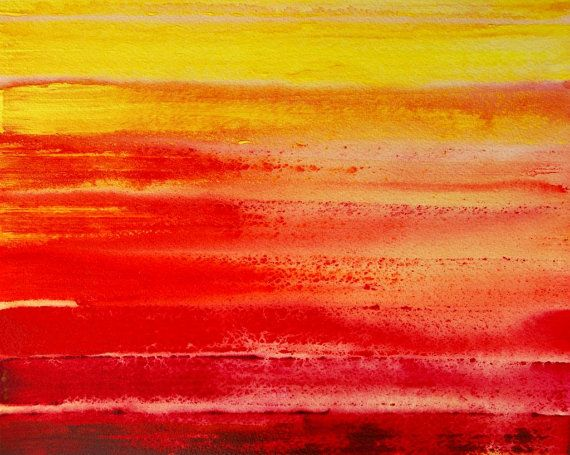 Red Orange Yellow Abstract Art Original Painting by AlishaVernon, $20.00