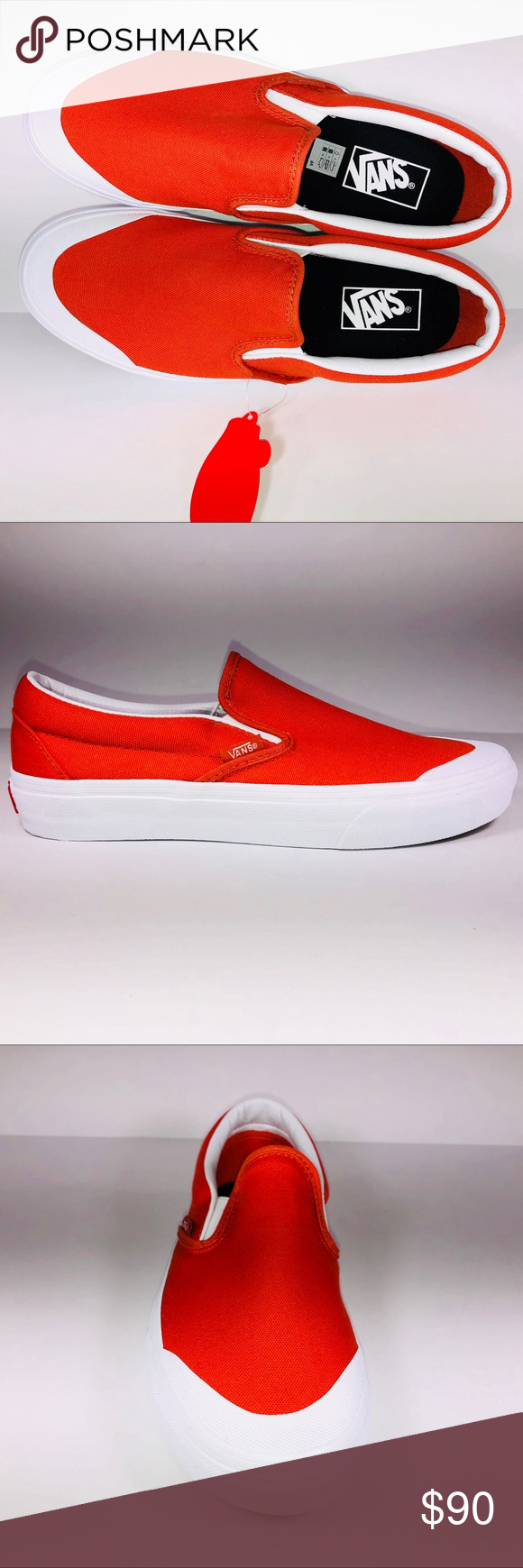 afa2fef18f1 VANS Classic Slip On 138 Puréed Pumpkin Sneakers New With Box See Pictures  For Details.