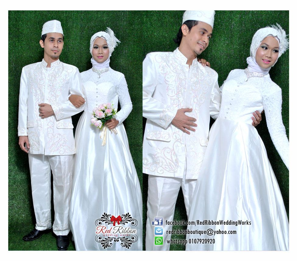 Muslim Wedding Gown Set For Couple By Us Up For Rent With Affordable Price