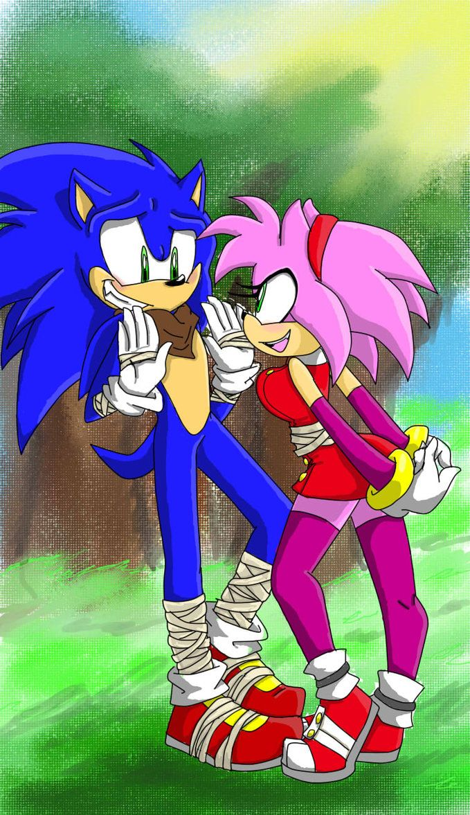 Sonamy Boom By Zombie Face Sonic And Amy Sonic Sonic Fan Art