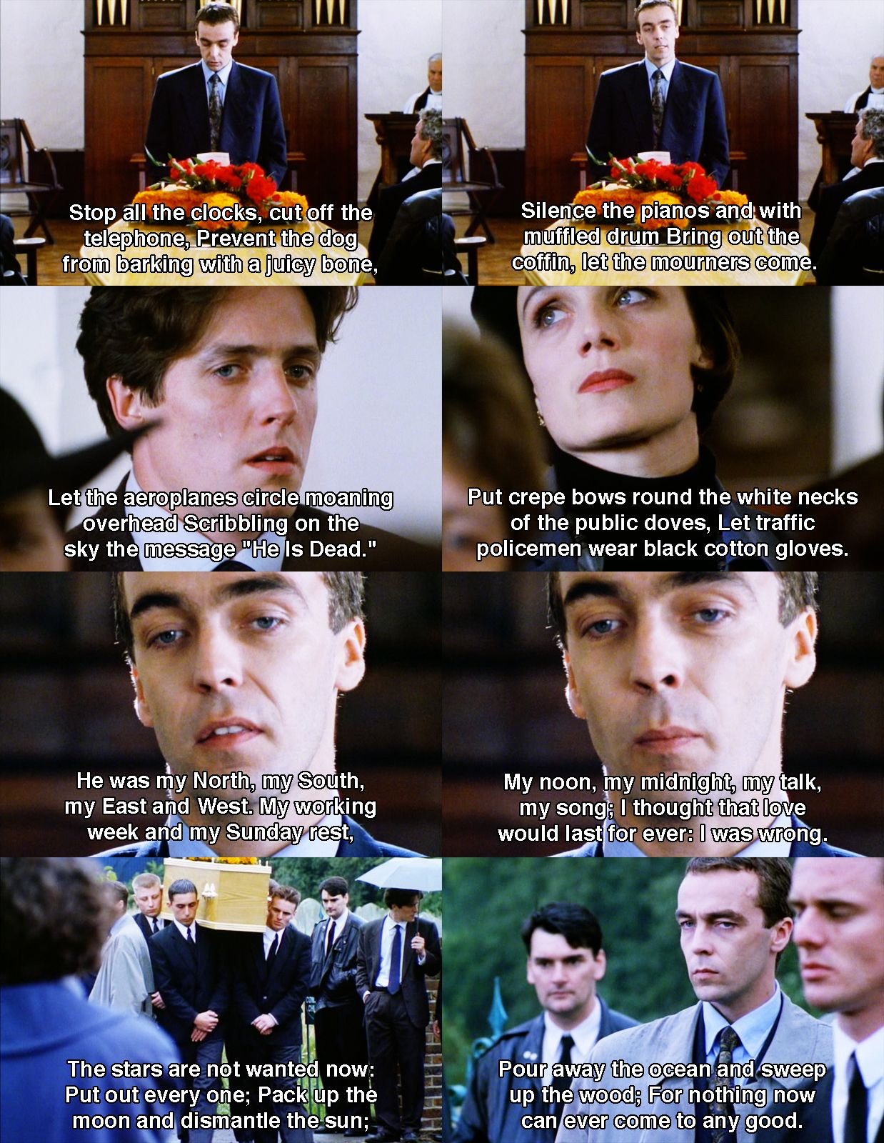 Sad But Beautiful Speech From Four Weddings And A Funeral