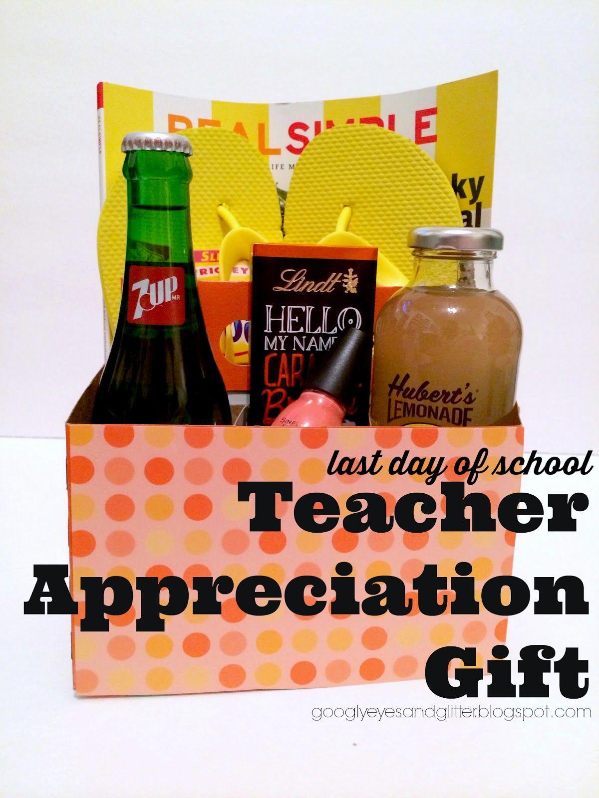 Diy end of the year teacher appreciation gift baskets