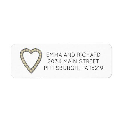 Marquee Letters Heart Return Address Labels - barn wedding gifts