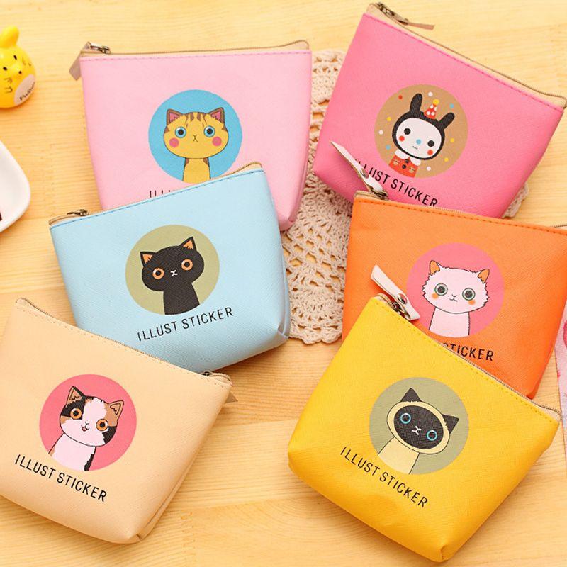 Minnie Mouse cartoon kids handmade zipper fabric coin change purse card holder