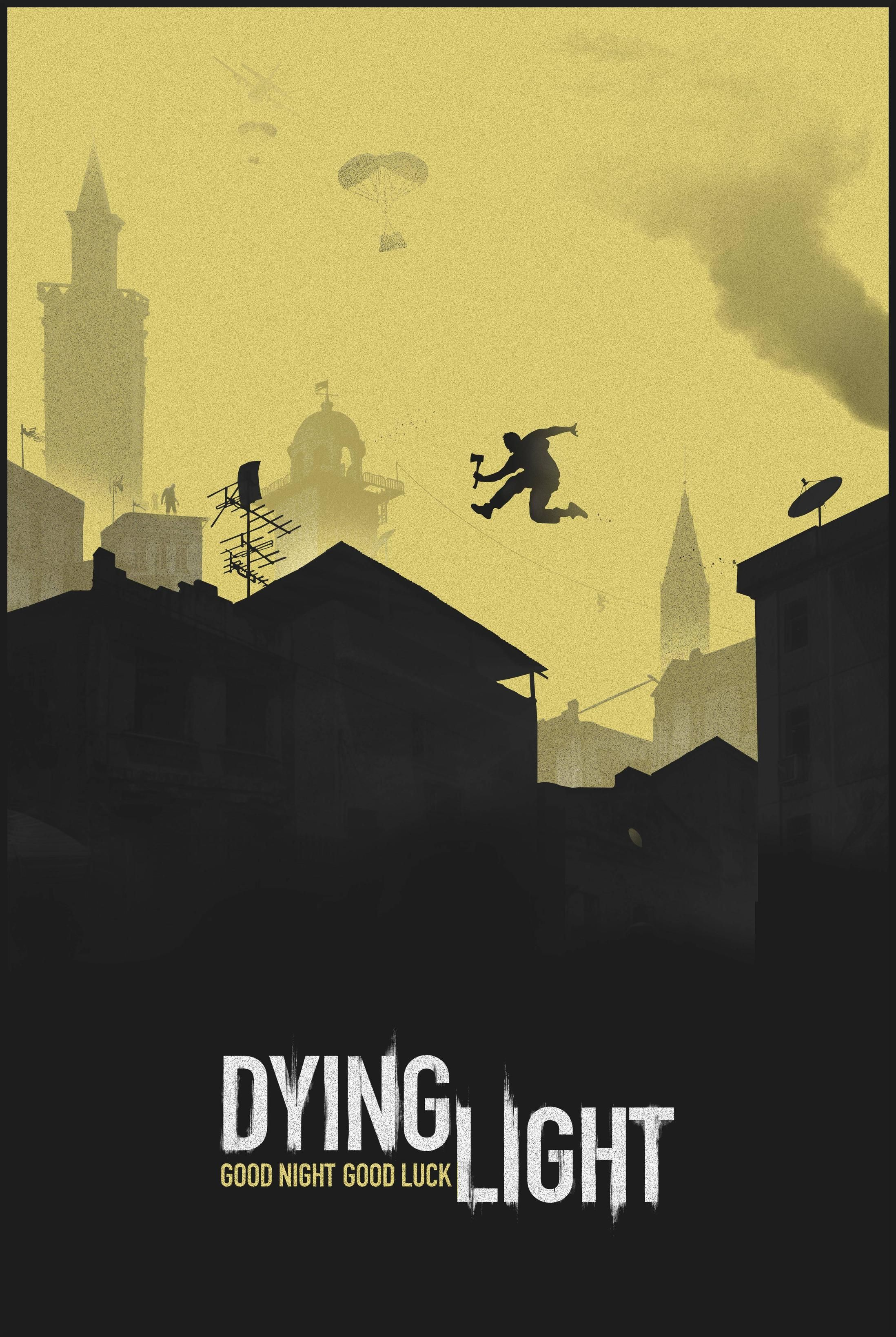 Dying Light City Skyline Silhouette Only Been Playing This For A Few Days But The Parkour Mirrors Edge Or Assassins Creed Influence With Fallout Like