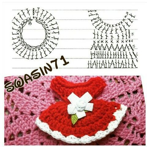 Crochet doll dress | B806 | Pinterest | Häkeln lernen, Puppenstube ...