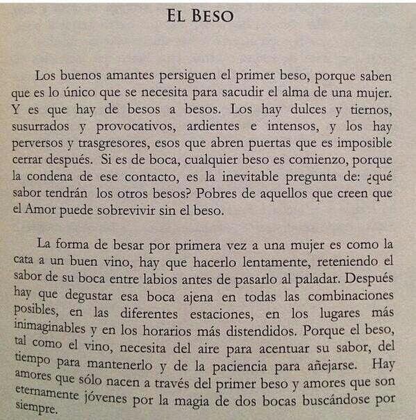 El Beso Fragmento Del Libro Con Las Alas En Llamas German Renko