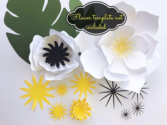 Paper Leaf Template Paper Flower Centers Diy Tropical Paper Etsy Flower Template Paper Flower Template Paper Flower Patterns
