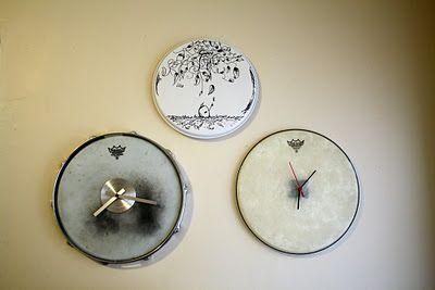 Drum Head Clock with Drum Head Art Around