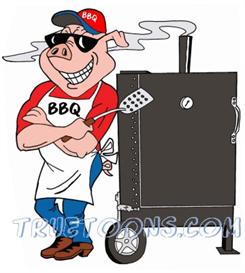 Pig bbq. Smoker clip art free
