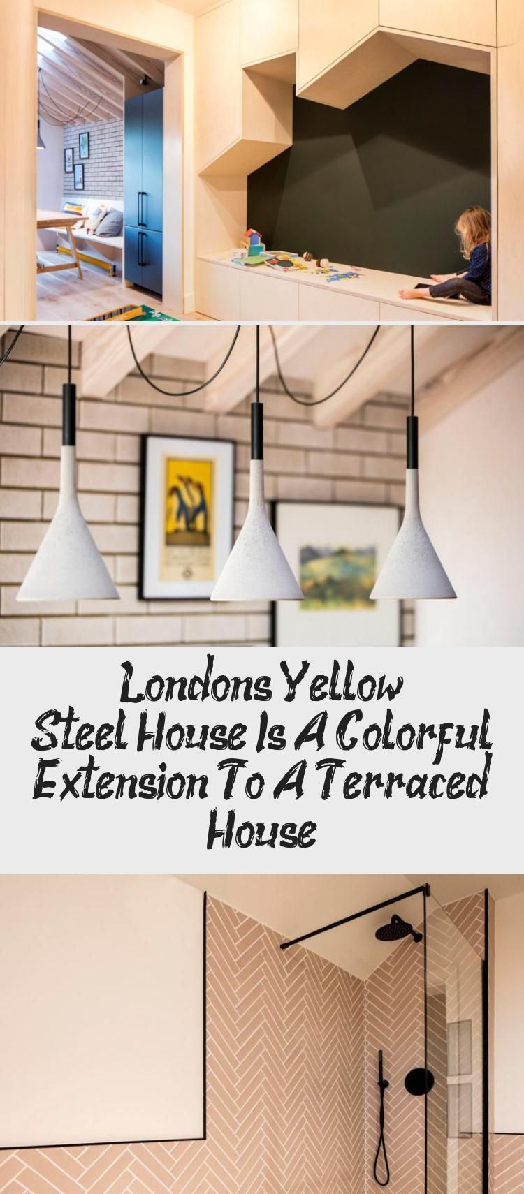 London's Yellow Steel House Is A Colorful Extension To A Terraced House - Lesl...-#Colorful #extension #House #Lesl #Londons #steel #terraced #Yellow-London's Yellow Steel House Is A Colorful Extension To A Terraced House – Leslie's Blog- A house that incorporates bold yellow steel beams, wood rafters, and plywood enclosures for a cheery, contemporary feel.  #ArchitecturePhotography #ResidentialArchitecture  Informations About London's Yellow Steel House Is A Colorful Extension To A Terraced Ho
