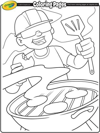Get The Grill Ready With This Coloring Page Color Me Summer