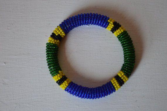 Maasai Beaded Bracelet Tanzania Flag Colors Bracelet African