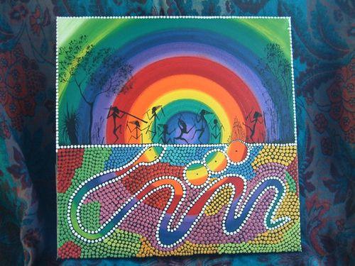 Rainbow Serpent Original Artwork By David Dunn Aboriginal