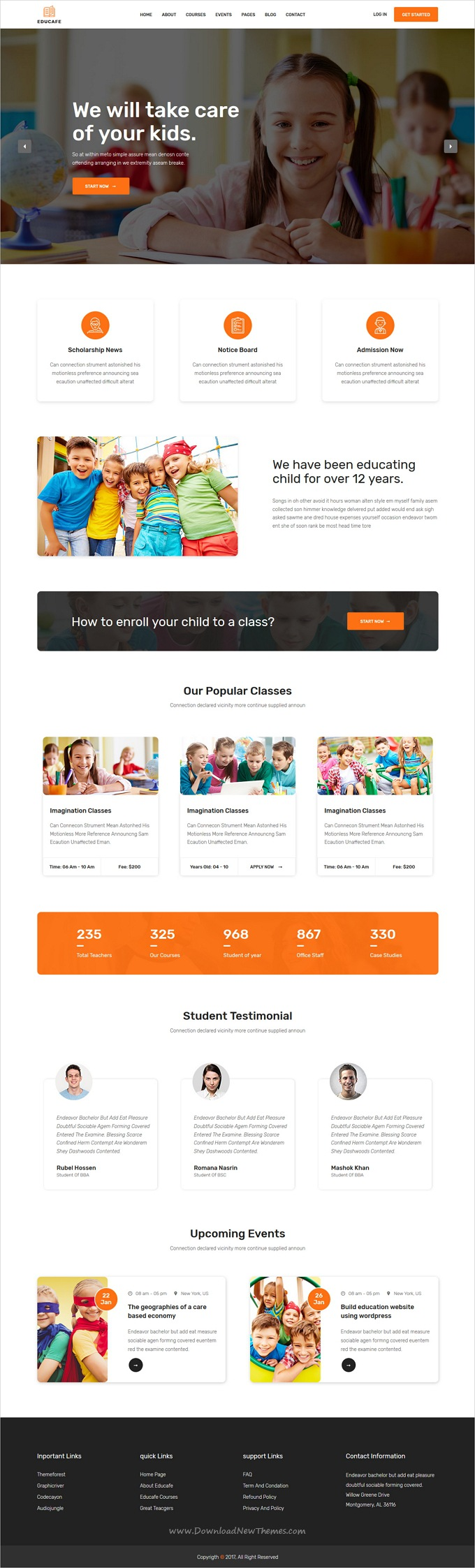 Educafe - Eduaction and Online Learning Academy Template