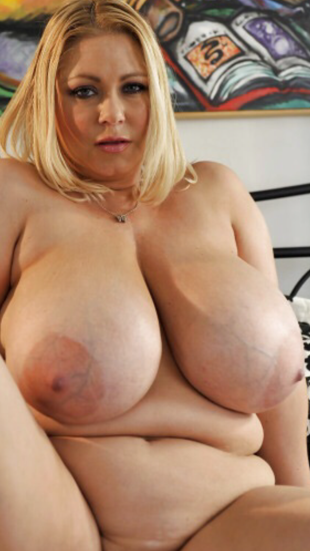 38g monster natural tits on hairy blonde milf 4