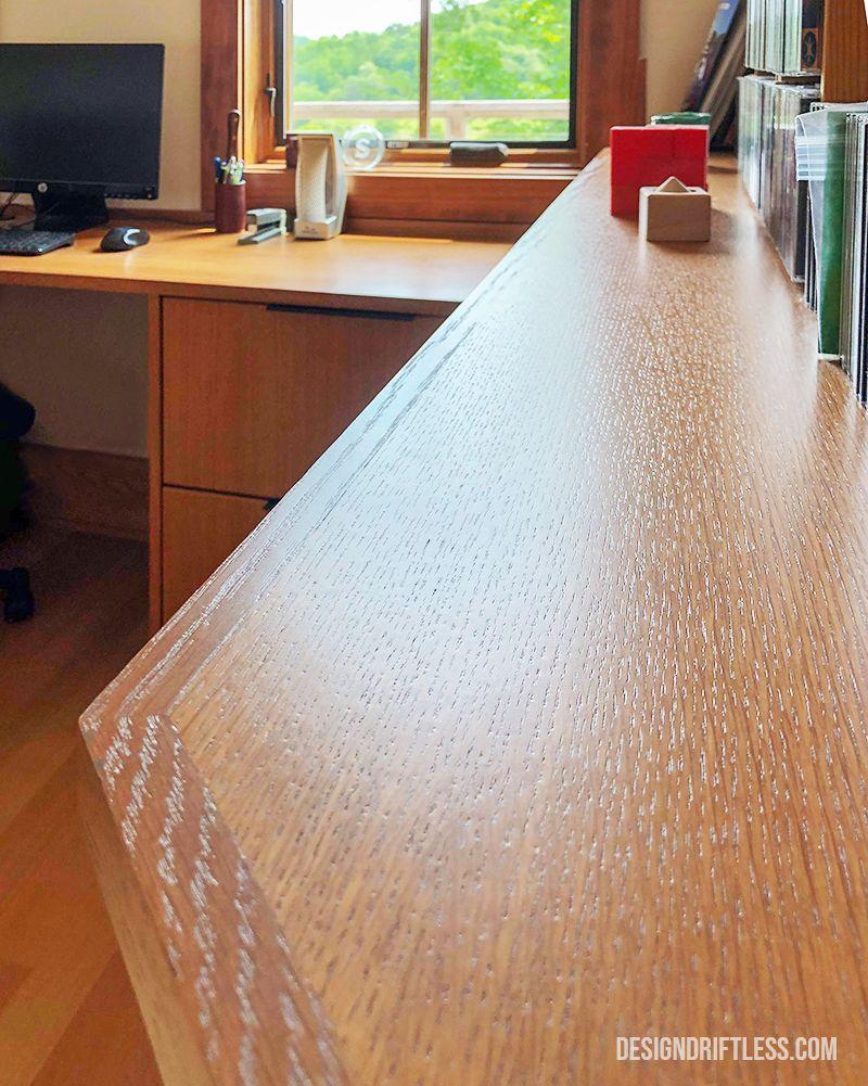 Quarter Sawn White Oak Custom Home Office Featuring Crystal