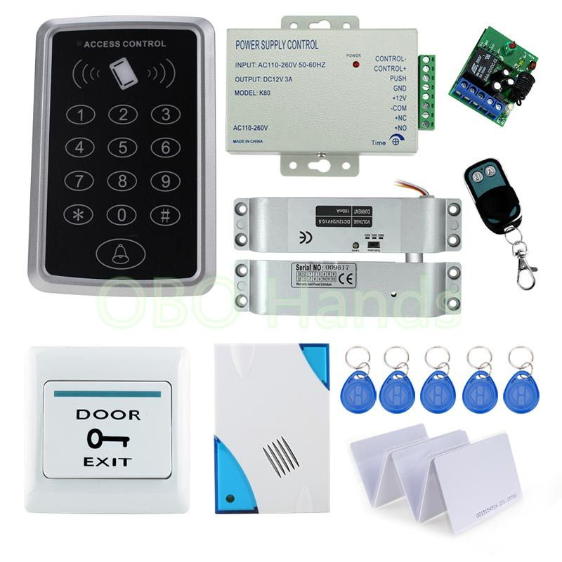 Contactless Inductive Access Control System Rfid Card Keypad Kit Set For Proximity Door Lock System Remote Control Door Lock Access Control Door Lock System