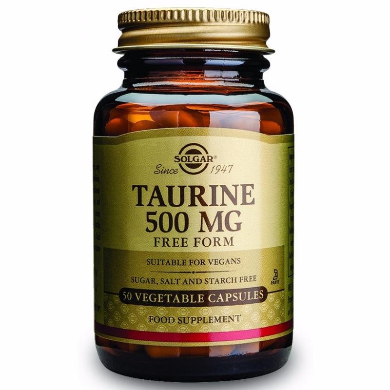 Tauriin 500 mg Solgar 50 tabl Vegetable capsules