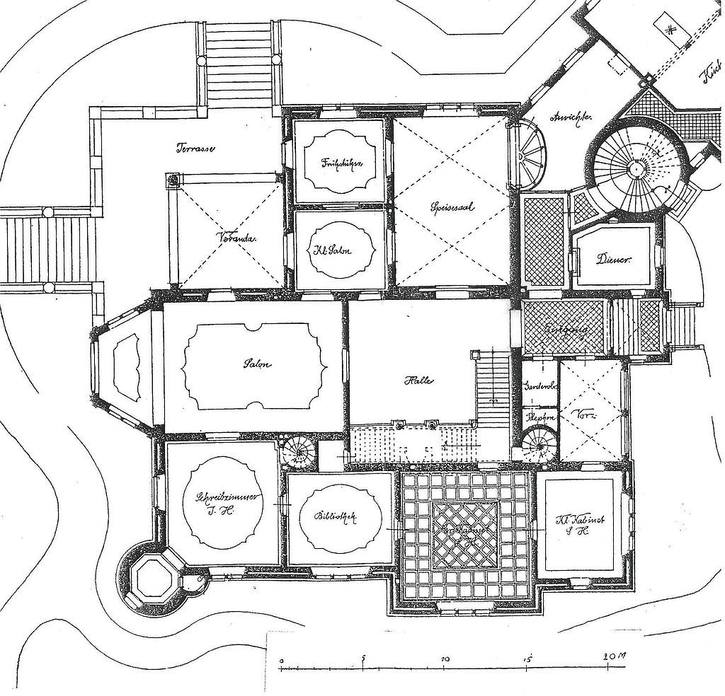 nordseite castle wiligrad from wikiwand: master wing, floor plan