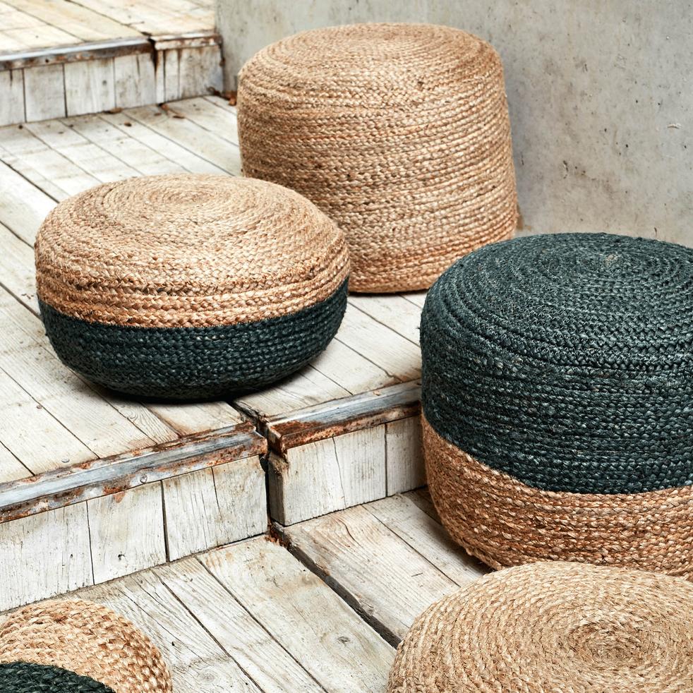 Pouf en jute 10x10x10cm - NAÏA - coussins de sol et poufs - alinea