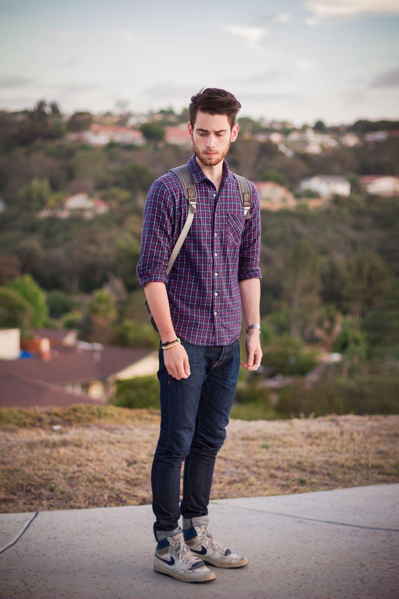 Flannel shirt men outfit  Edward Honaker  Menus Fashion SpringSummer  Pinterest