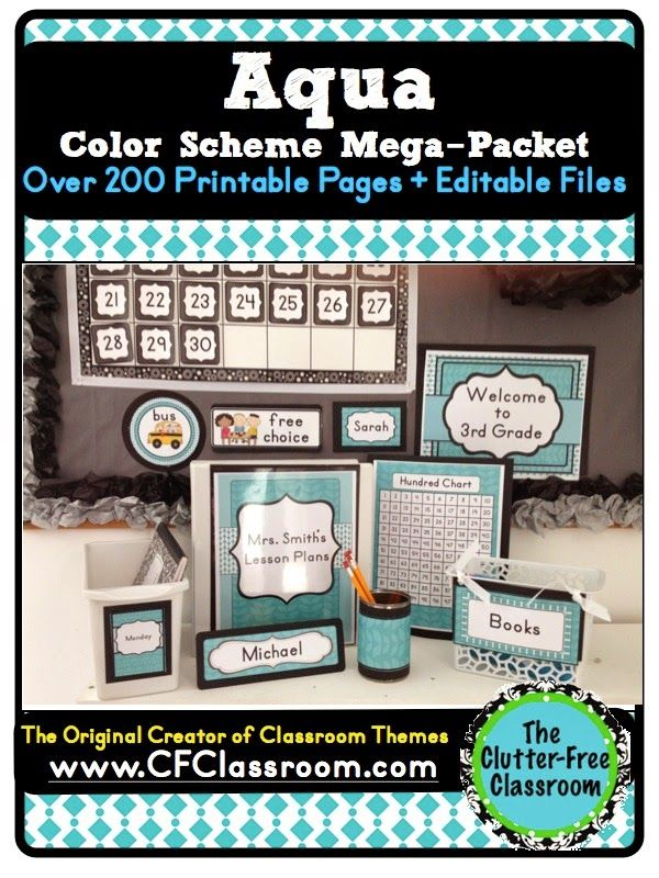 Clutter-Free Classroom: Do You Want to Create a Beautiful & Organized Classroom? {Mix and Match Color Schemes}