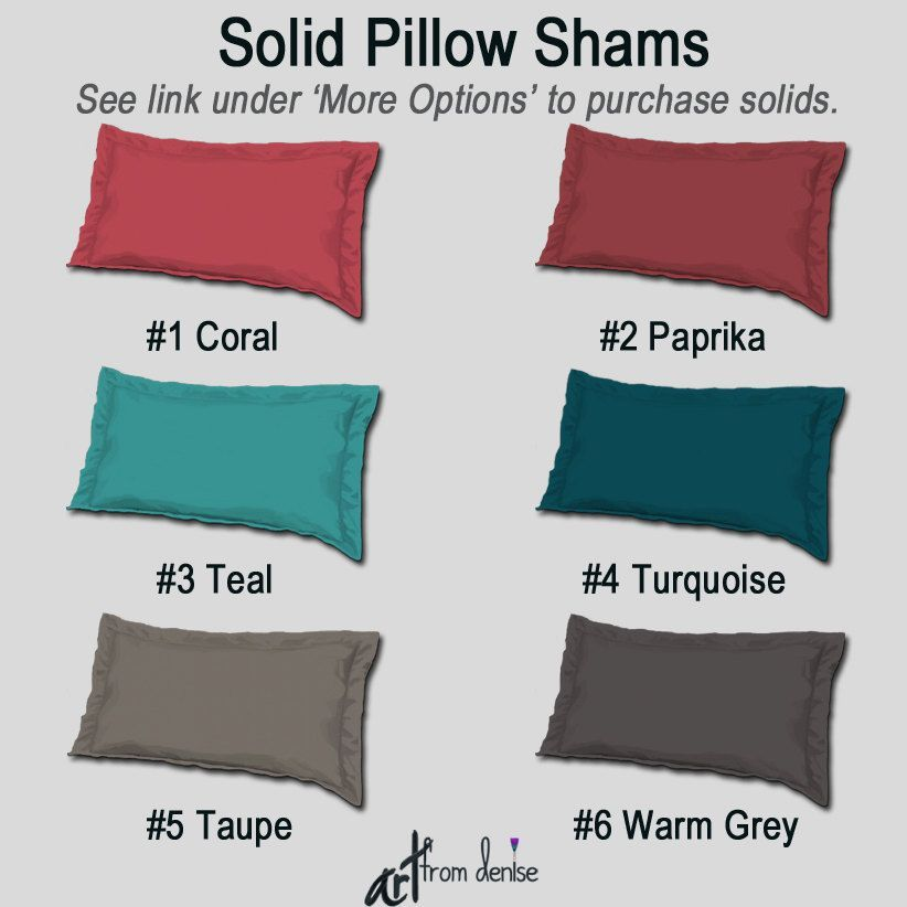 Solid color pillow shams, Teal coral gray, Turquoise taupe, Decorative pillows, Mix & match, Aqua bedroom decor, Designer bedding, Upscale#aqua #bedding #bedroom #color #coral #decor #decorative #designer #gray #match #mix #pillow #pillows #shams #solid #taupe #teal #turquoise #upscale
