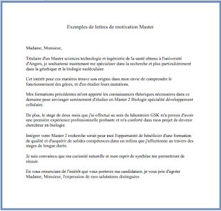 10 Exemples De Lettres De Motivation Pour Master Pdf Et Word