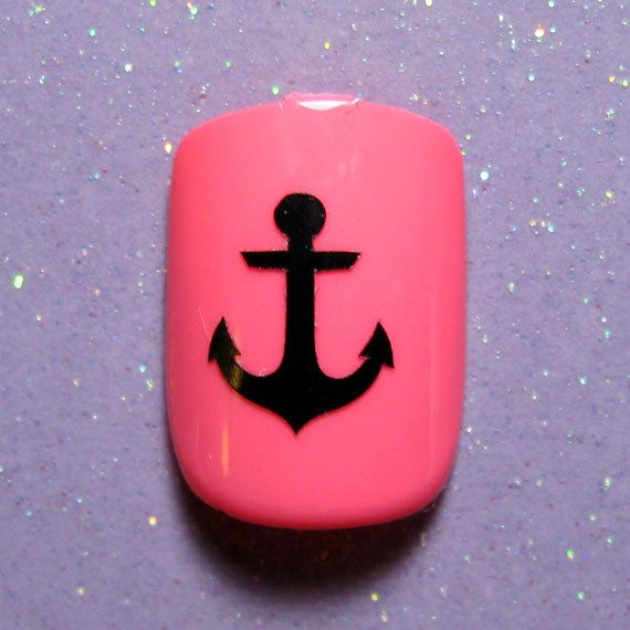 Anchor nail art decal stickers-finger nail decals vinyl nail ...