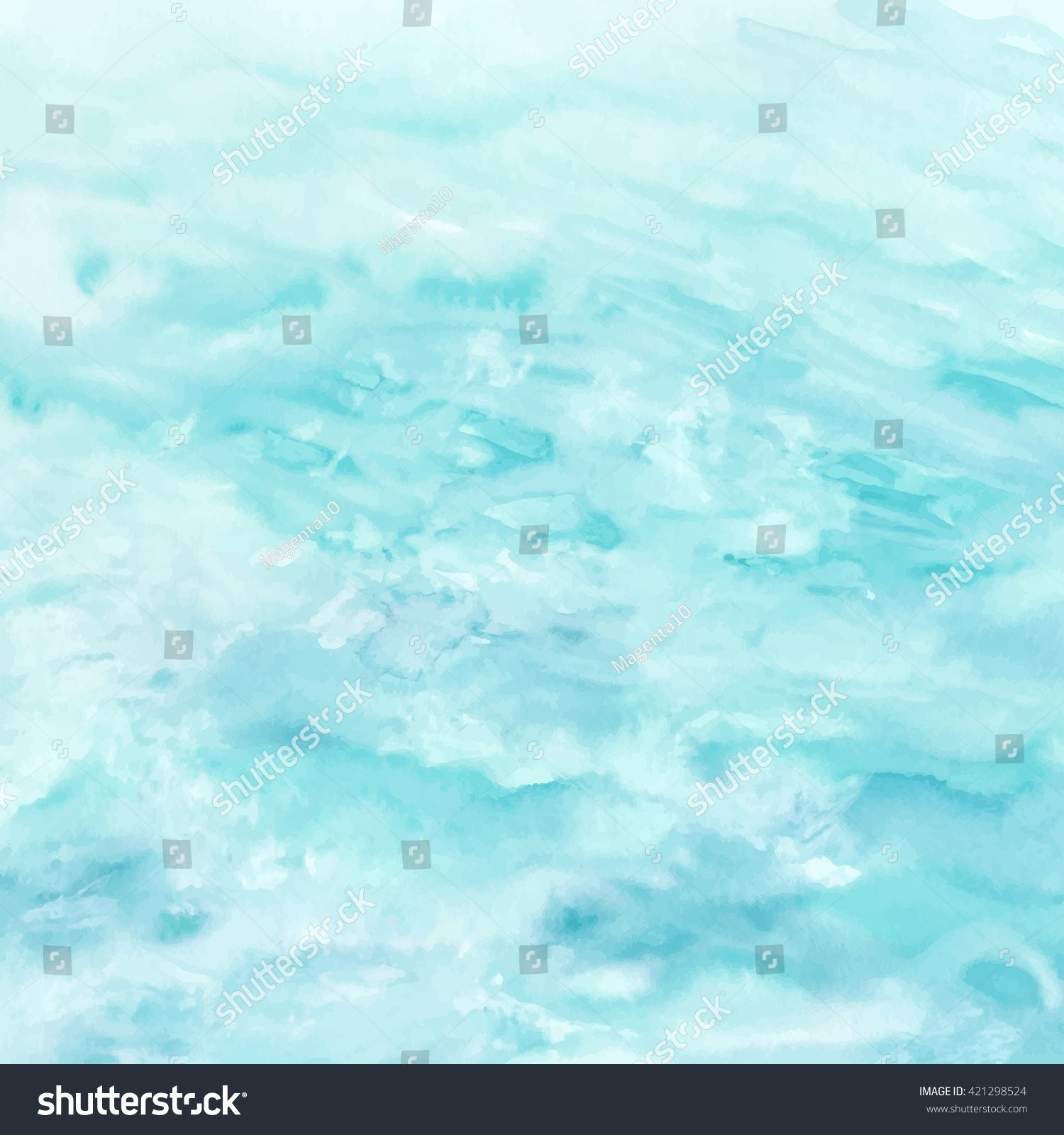 Sea Water Texture Abstract Watercolor Background Vector