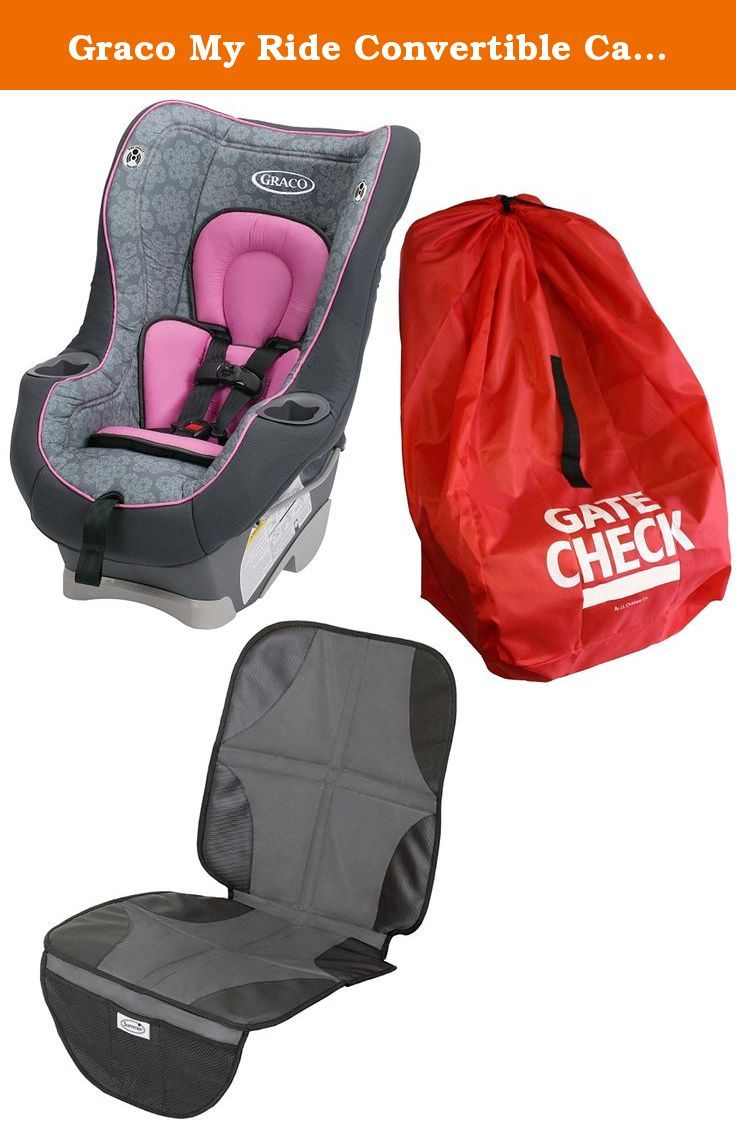 Graco My Ride Convertible Car Seat With Gate Check Bag Mat Sylvia