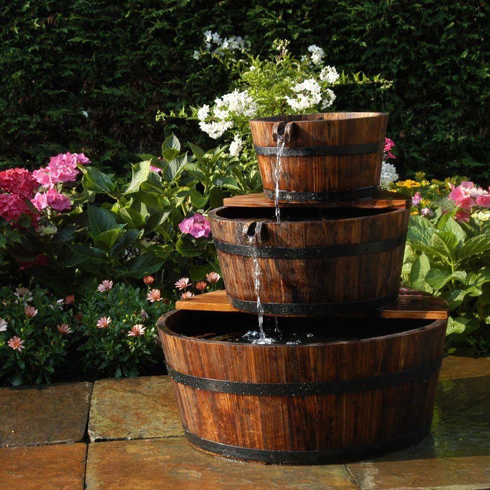 Fontaine de jardin 3 tonneaux en cascade EDINBURGH Ubbink port ...