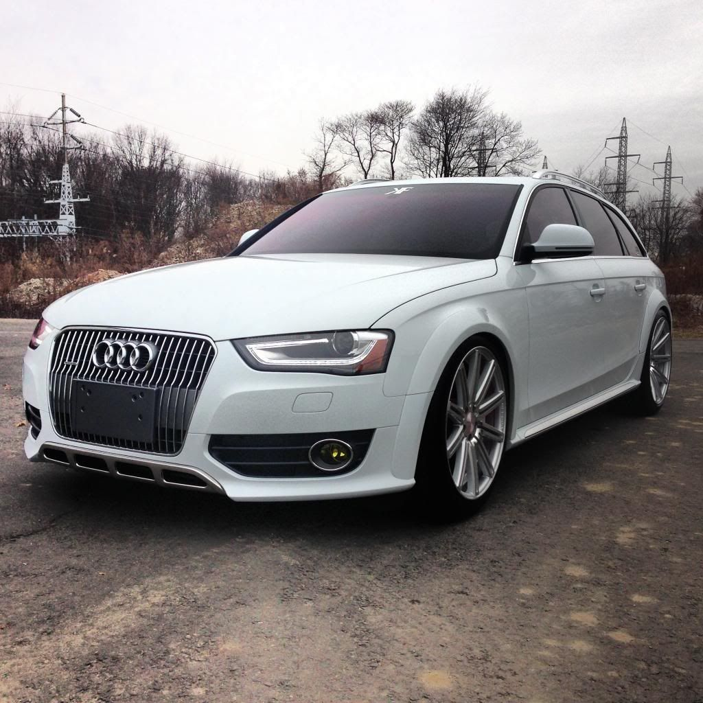 B8 Audi Allroad Lowered With Staggered Fitment