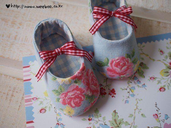 Como hacer zapatitos de tela para bebes patucos bebe - Zapateros de tela ...