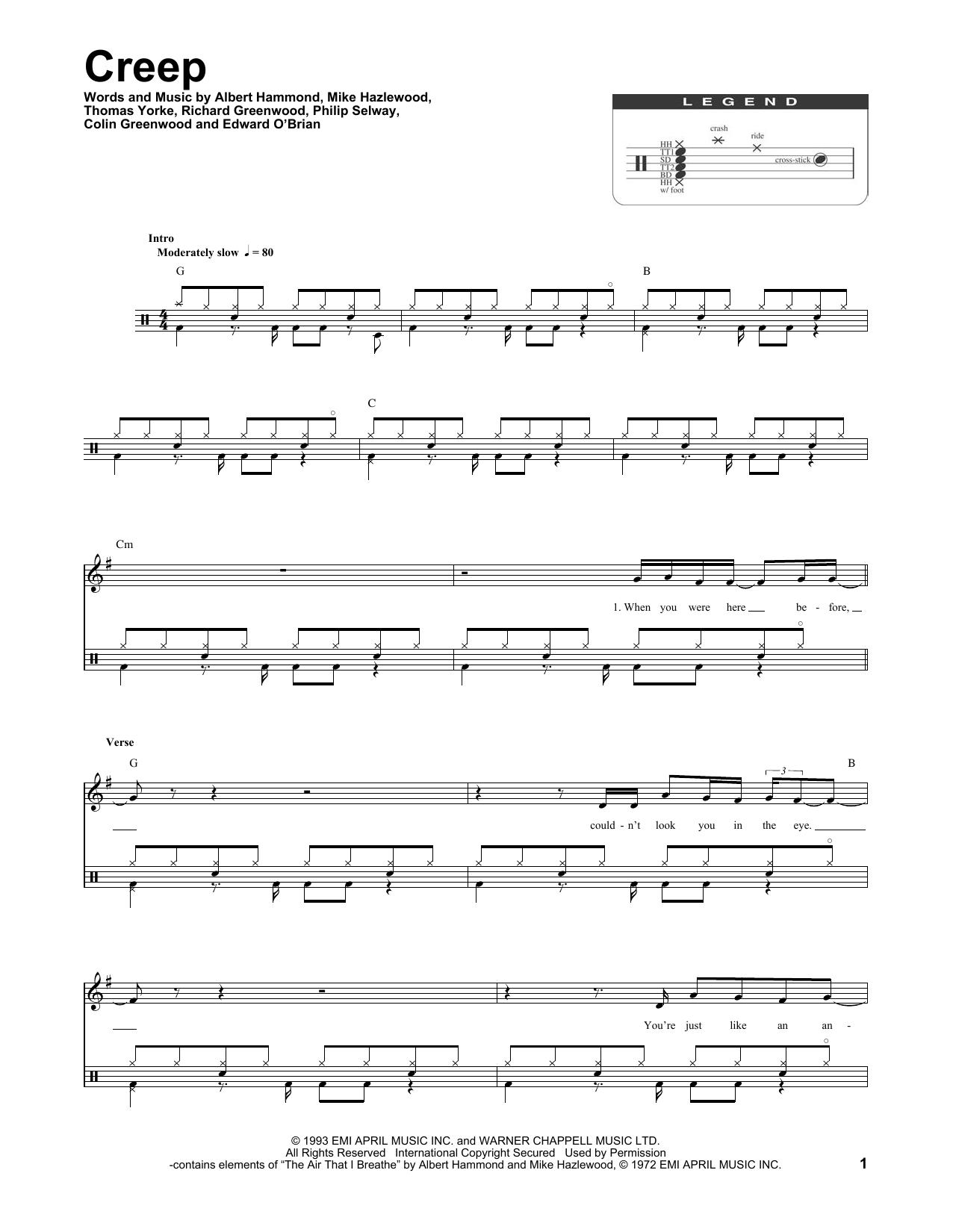 Radiohead Creep 174263 Trommer