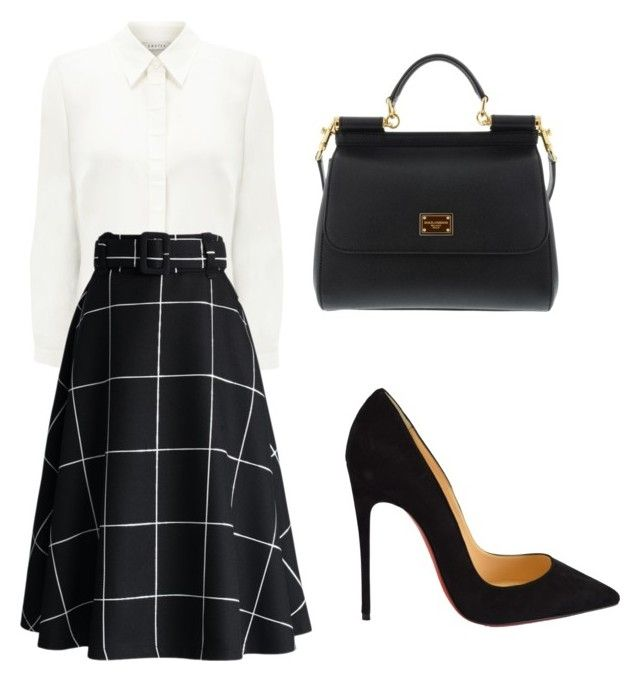 """""""elegant for today"""" by tania-alves ❤ liked on Polyvore featuring Eastex, Chicwish, Christian Louboutin, Dolce&Gabbana, women's clothing, women's fashion, women, female, woman and misses"""