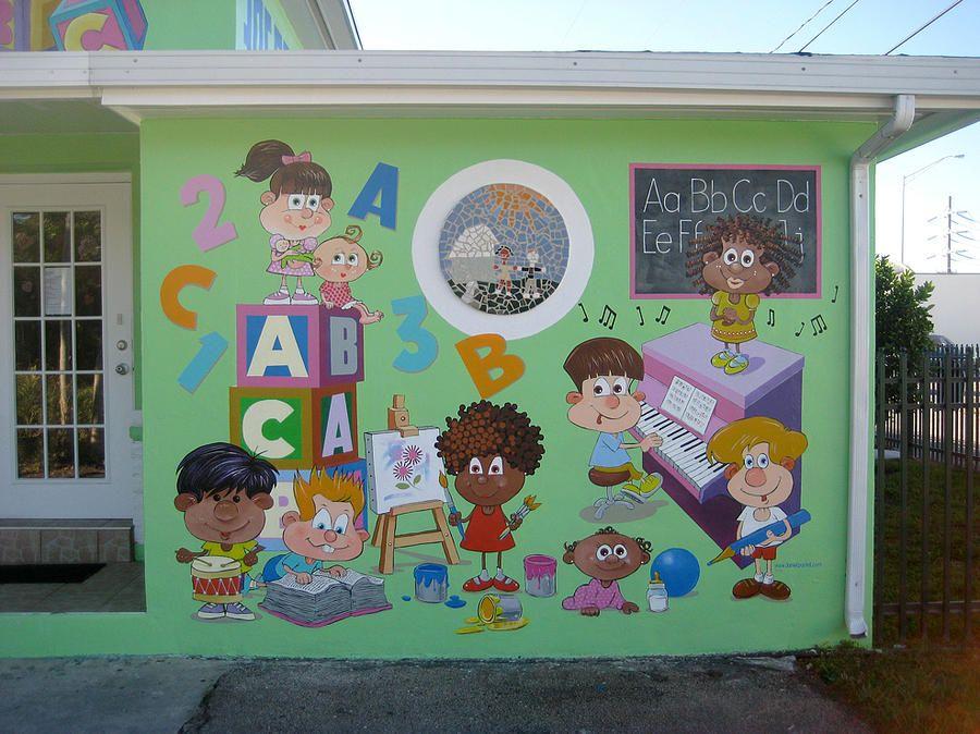 daycare murals - Google Search | Kindergarten design ...