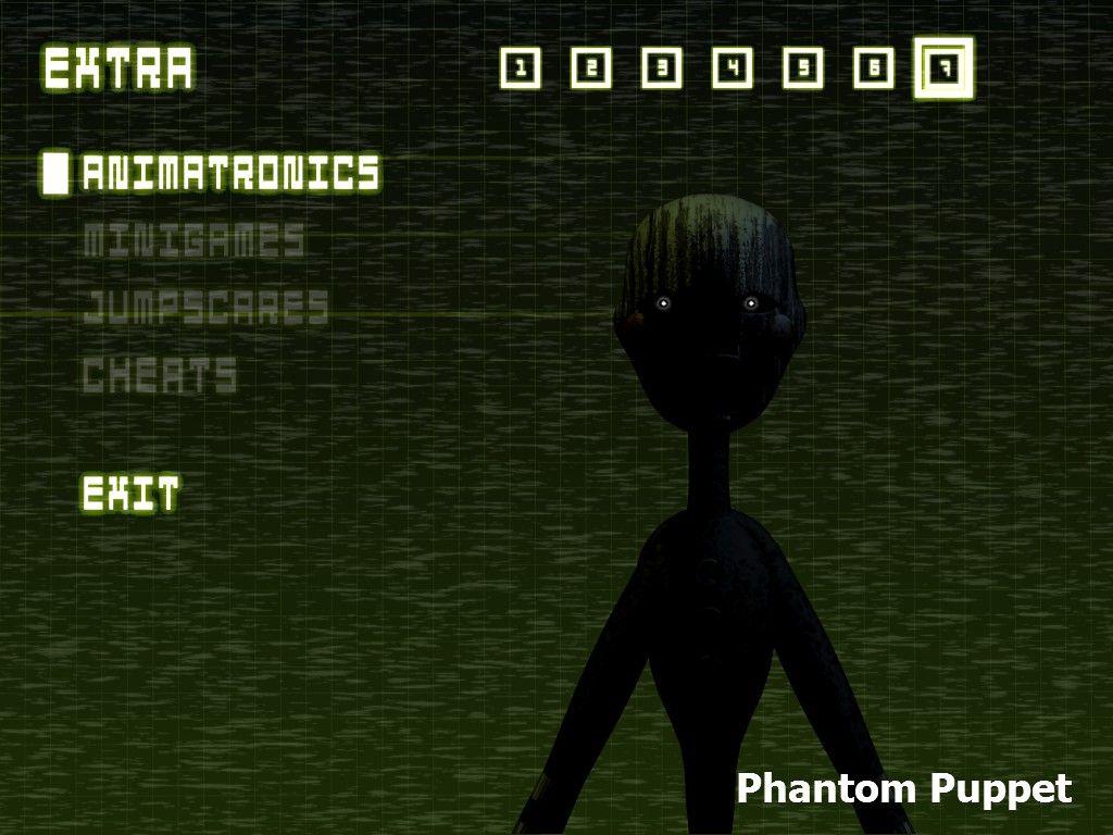 FNAF 3 - Phantom Puppet Extra - Animatronic Model 7 | Five