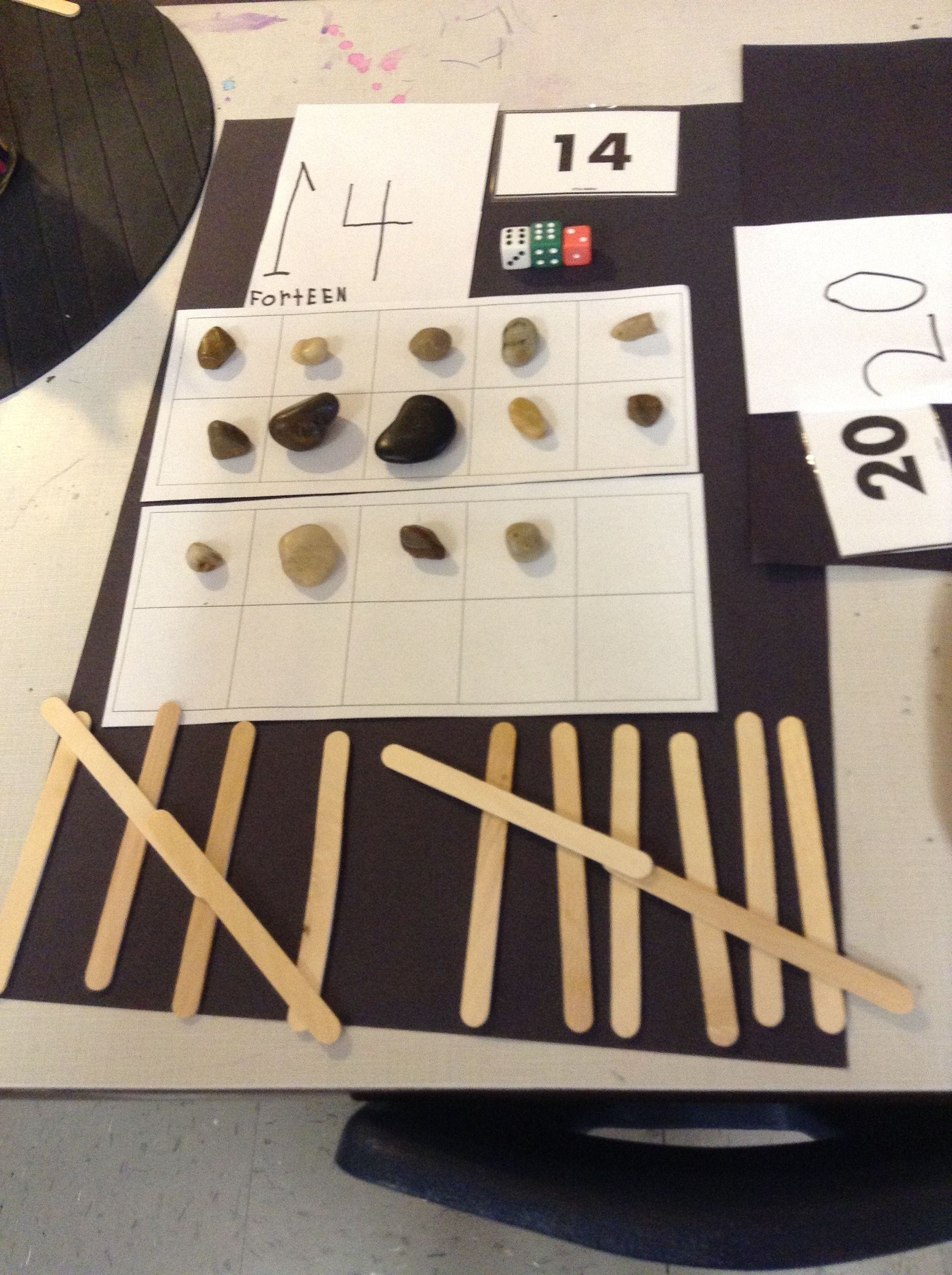 Counting Using A 10 Frame With Loose Parts