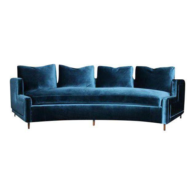 Pin By Maria Clara Silva Orrico On Living Room In 2020 Blue Velvet Sofa Velvet Sofa Furniture