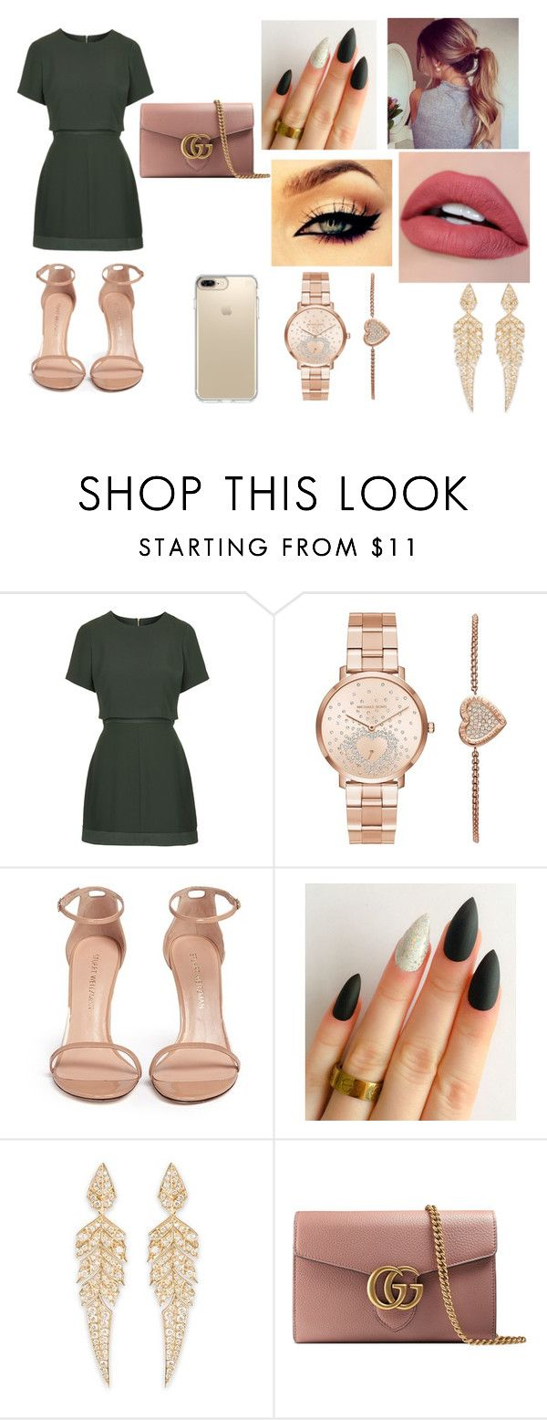 """""""Sem título #68"""" by gaby-ang ❤ liked on Polyvore featuring Topshop, Michael Kors, Stuart Weitzman, Stephen Webster, Gucci and Speck"""