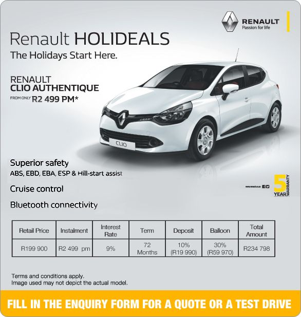 Hill Start Assist: Purchase A New Renault Clio Authentique From R2 499pm