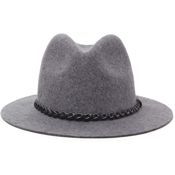 b1d744c731b Forever 21 Women's Braided Trim Wool Fedora (£6.90) ❤ liked on Polyvore  featuring accessories, hats, braided hat, woven fedora, forever 21, wool hat  and ...