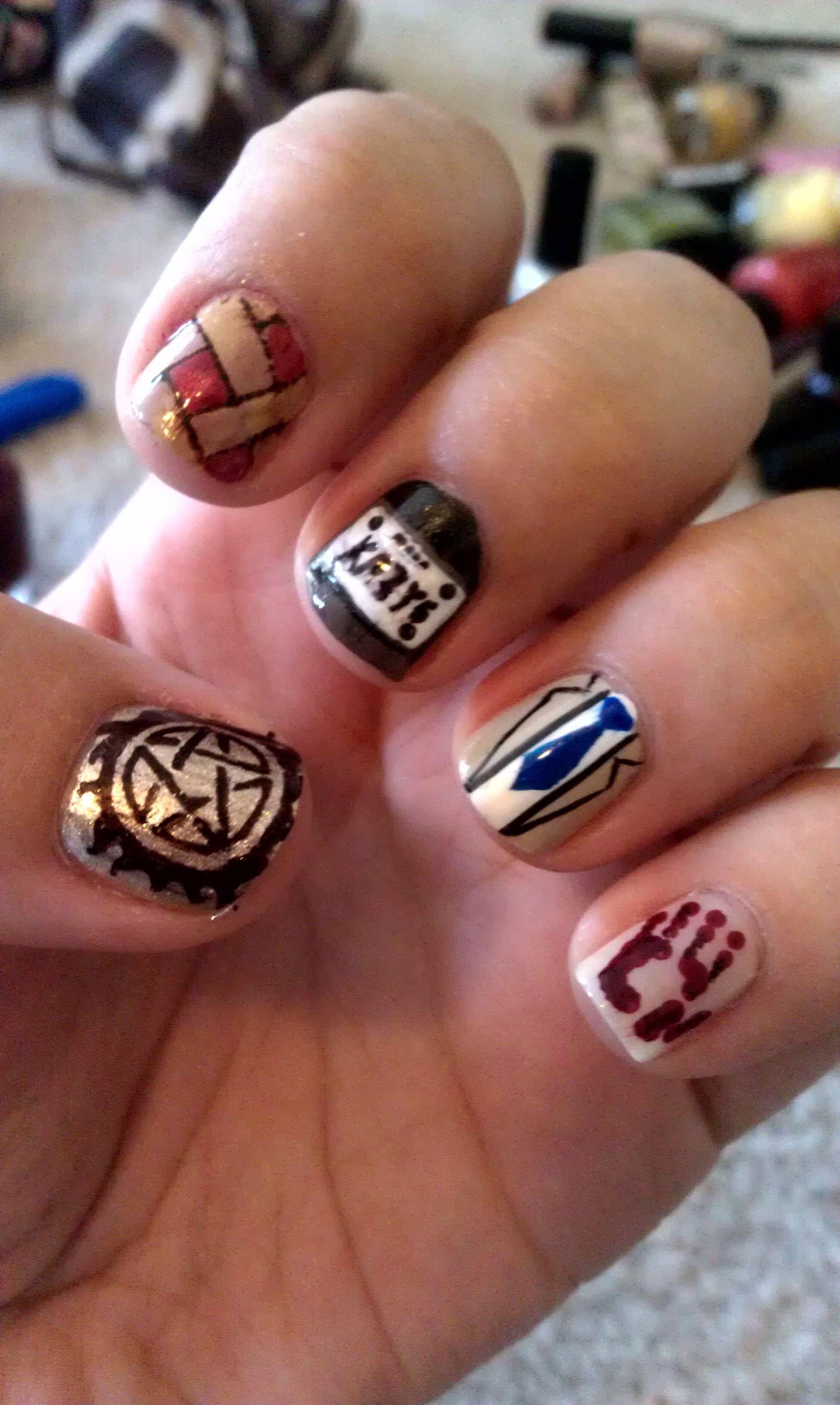 Supernatural Nail Art Pinterest