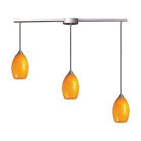 westmore lighting florio 37 in satin nickel linear art glass