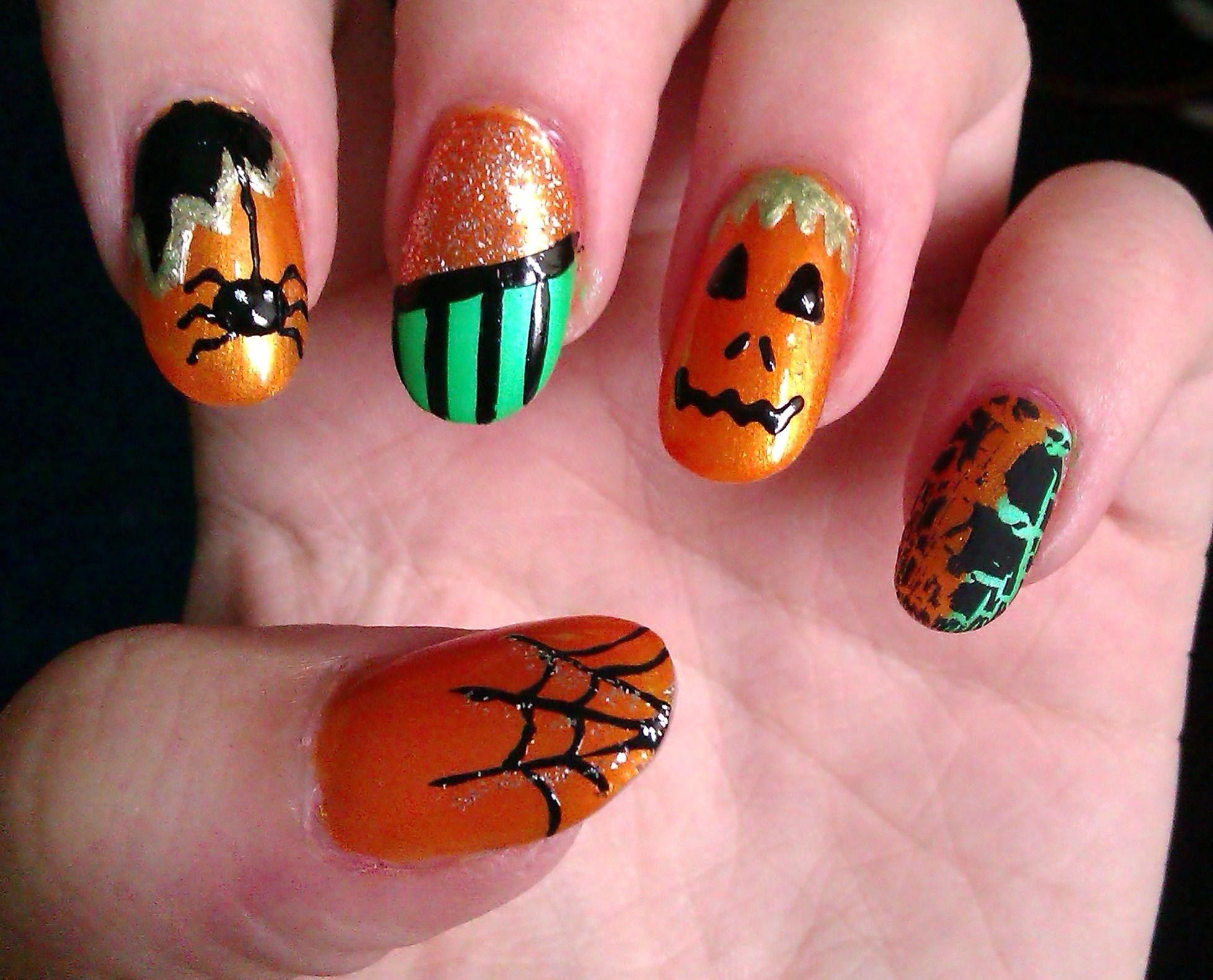 Halloween Nails Designs Nail Designs Pinterest Halloween