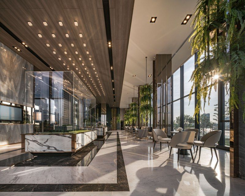 Hotel Foyer Glass : The politan aqua by everland hotel resort lobby